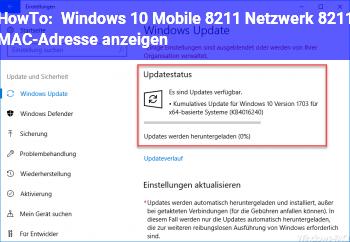 HowTo Windows 10 Mobile – Netzwerk – MAC-Adresse anzeigen