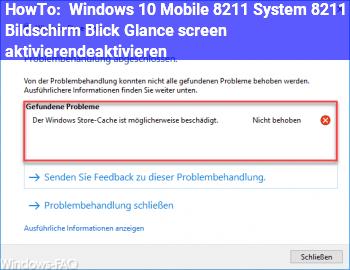 """HowTo Windows 10 Mobile – System – Bildschirm """"Blick"""" (Glance screen) aktivieren/deaktivieren"""