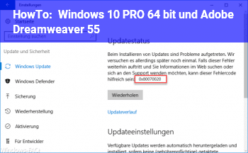 HowTo Windows 10 PRO, 64 bit und Adobe Dreamweaver 5.5