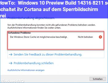HowTo Windows 10 Preview Build 14316 – so schaltet ihr Cortana auf dem Sperrbildschirm frei
