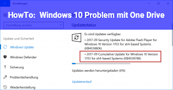 HowTo Windows 10 Problem mit One Drive