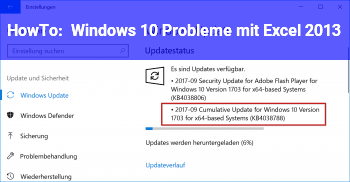 HowTo Windows 10 Probleme mit Excel 2013