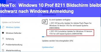HowTo Windows 10 Prof. – Bildschirm bleibt schwarz nach Windows Anmeldung