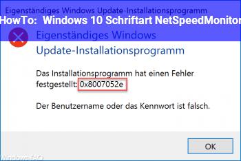 HowTo Windows 10: Schriftart & NetSpeedMonitor
