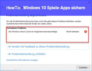 HowTo Windows 10 Spiele-Apps sichern
