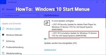 HowTo Windows 10 Start Menü