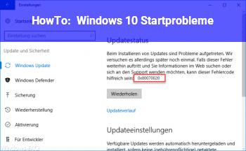 HowTo Windows 10 Startprobleme