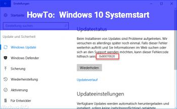 HowTo Windows 10 Systemstart