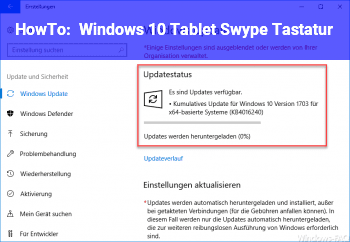 HowTo Windows. 10 Tablet Swype Tastatur