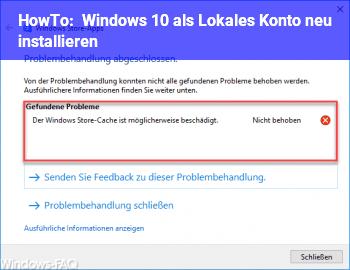 HowTo Windows 10 als Lokales Konto neu installieren