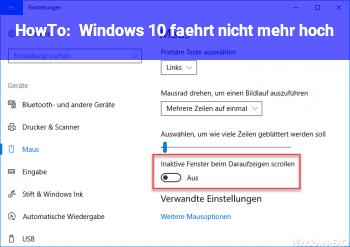 HowTo Windows 10 fährt nicht mehr hoch