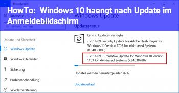 HowTo Windows 10 hängt nach Update im Anmeldebildschirm