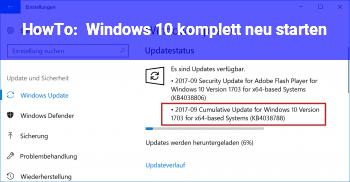 Windows Komplett Neu Starten