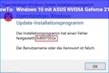HowTo Windows 10 mit ASUS NVIDIA Geforce 210