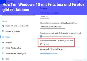 HowTo Windows 10 mit Fritz box und Firefox gibt es Addons