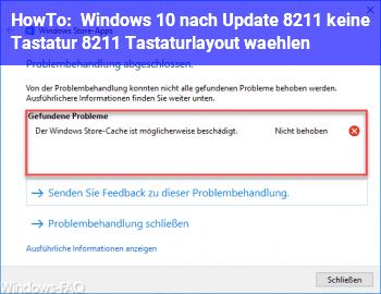 HowTo Windows 10 nach Update – keine Tastatur – Tastaturlayout wählen