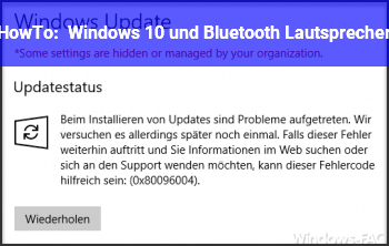 HowTo Windows 10 und Bluetooth Lautsprecher