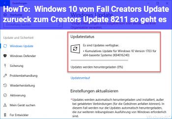 HowTo Windows 10: vom Fall Creators Update zurück zum Creators Update – so geht es