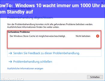 HowTo Windows 10 wacht immer um 10:00 Uhr aus dem Standby auf