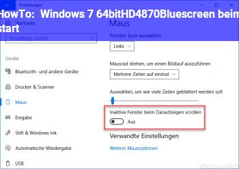 HowTo Windows 7 64bit+HD4870+Bluescreen beim start