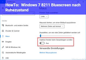HowTo Windows 7 – Bluescreen nach Ruhezustand