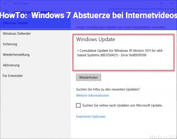HowTo Windows 7 Abstürze bei Internetvideos!