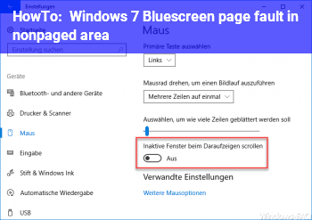 HowTo Windows 7 Bluescreen page fault in nonpaged area