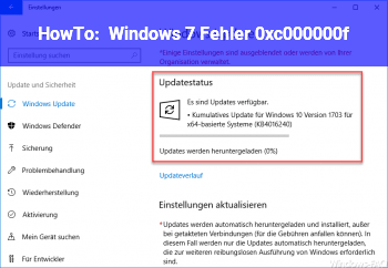 HowTo Windows 7 Fehler 0xc000000f