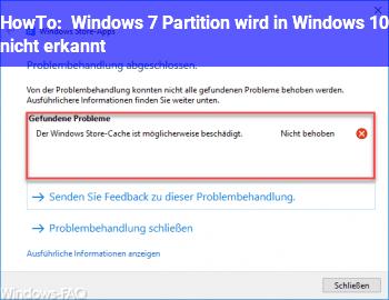 HowTo Windows 7 Partition wird in Windows 10 nicht erkannt