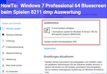 HowTo Windows 7 Professional 64 Bluescreen beim Spielen – .dmp Auswertung
