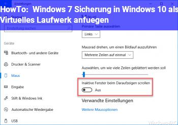 windows 7 sicherung in windows 10 als virtuelles laufwerk anf gen windows 10 net. Black Bedroom Furniture Sets. Home Design Ideas
