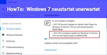 HowTo Windows 7 neustartet unerwartet