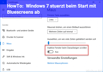 HowTo Windows 7 stürzt beim Start mit Bluescreens ab