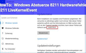 HowTo Windows Abstürze – Hardwarefehler – LiveKernelEvent