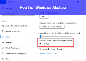 HowTo Windows Absturz