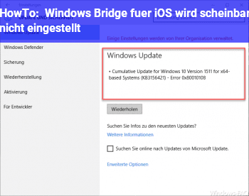 HowTo Windows Bridge für iOS wird scheinbar nicht eingestellt