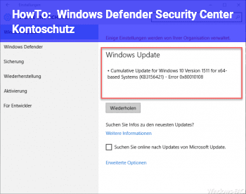 HowTo Windows Defender Security Center_Kontoschutz