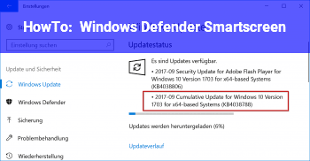 HowTo Windows Defender Smartscreen