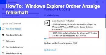 HowTo Windows Explorer Ordner Anzeige fehlerhaft