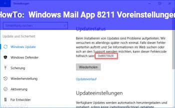 HowTo Windows Mail App – Voreinstellungen