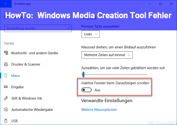 HowTo Windows Media Creation Tool Fehler
