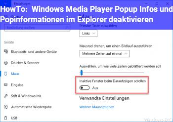 HowTo Windows Media Player Popup Infos und Popinformationen im Explorer deaktivieren