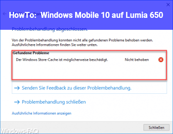 HowTo Windows Mobile 10 auf Lumia 650