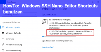 HowTo Windows SSH Nano-Editor Shortcuts benutzen