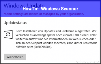 HowTo Windows Scanner