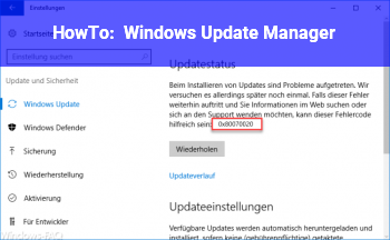 HowTo Windows Update Manager