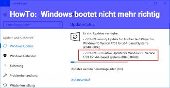 HowTo Windows bootet nicht mehr richtig