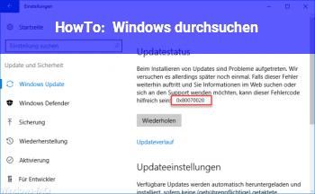 HowTo Windows durchsuchen