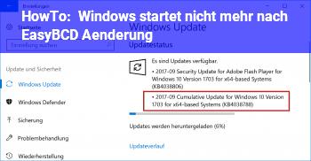 HowTo Windows startet nicht mehr, nach EasyBCD Änderung