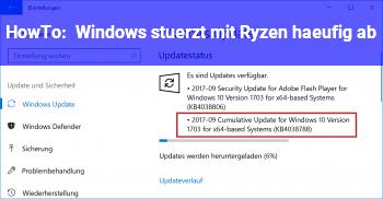 HowTo Windows stürzt mit Ryzen häufig ab